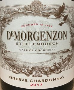 De Morgenzon Reserve Chardonnay 2017