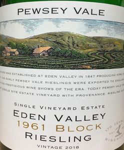 Pewsey Vale 1961 Block Riesling 2018