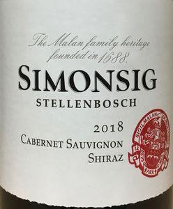 Simonsig Cabernet Sauvignon Shiraz 2018