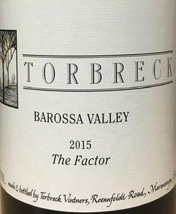Torbreck The Factor Shiraz 2015
