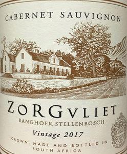 Zorgvliet Cabernet Sauvignon 2017