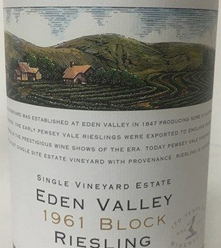 Pewsey Vale '1961 Block' Riesling 2018