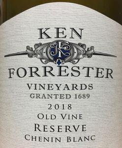 Ken Forrester Old Vine Res Chenin Blanc 2018