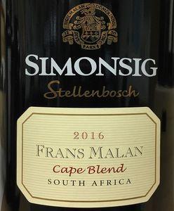 Simonsig Frans Malan 2016