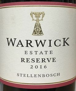 Warwick Estate Reserve 2016