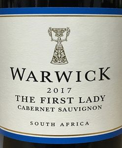 Warwick 'The First Lady' Cabernet Sauvignon 2017