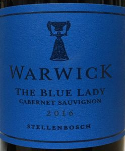 Warwick the blue lady cabernet sauvignon 2016