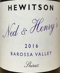 Hewitson 'Ned and Henry's' Shiraz 2016