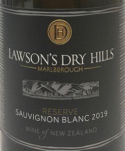 Lawson's Dry Hills Reserve Sauvignon Blanc 2019
