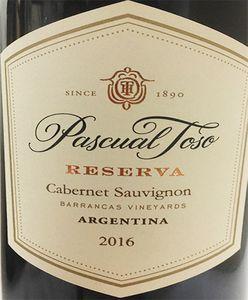 Pascual Toso Reserve Cabernet Sauvignon 2016