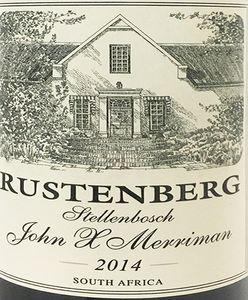 Rustenberg John X Merriman 2014