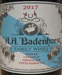 A A Badenhorst Red Blend 2017