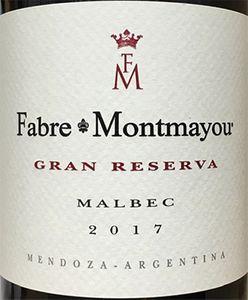 Fabre Montmayou 'Gran Reserva' Malbec 2017