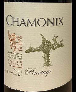 Chamonix Greywacke Pinotage 2013