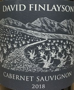David Finlayson Cabernet Sauvignon 2018