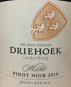 Driehoek Pinot Noir 2018