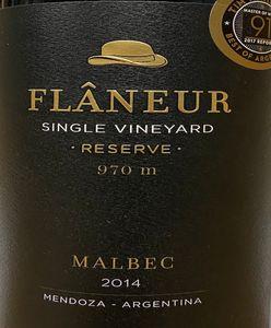Los Flaneur 970 Malbec 2014