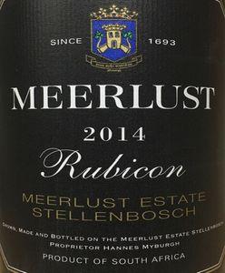 Meerlust Rubicon Magnum 2014