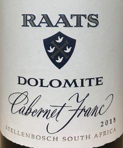 Raats Dolomite Cabernet Franc 2015