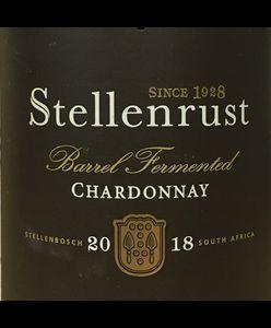 Stellenrust Barrel Fermented Chardonnay 2018