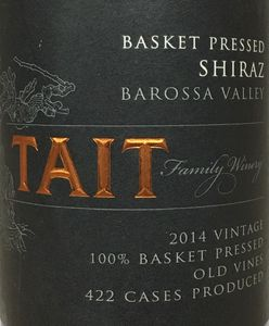Tait Basket Pressed Shiraz 2014