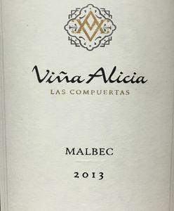 Vina Alicia Las Compuertas Malbec 2013