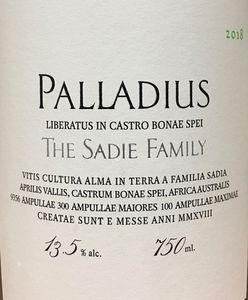 Sadie Family Palladius 2018
