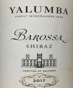 Yalumba Samuels Collection Barossa Shiraz 2017