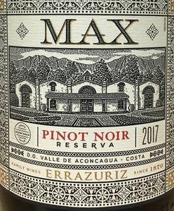 Errazuriz Max Pinot Noir 2017