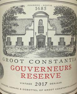 Groot Constantia Gouverneurs Reserve 2017