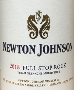 Newton Johnson Full Stop Rock 2018 Red Blend