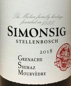 Simonsig GSM 2018
