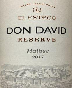 El Esteco Don David Res Malbec 2017