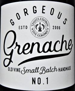 Gorgeous Grenache front label