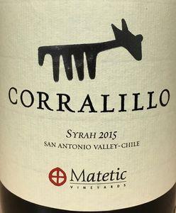 Matetic Corralillo Syrah 2015
