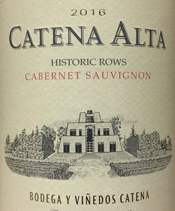 Catena Alta Cabernet 2016