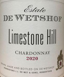 De Wetshof Limestone Hill Chardonnay 2020