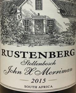 Rustenberg John X Merriman 2015