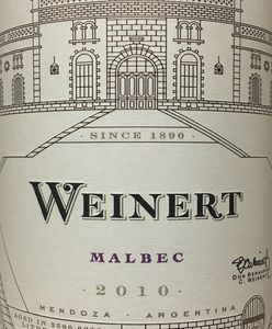 Weinert Malbec 2010