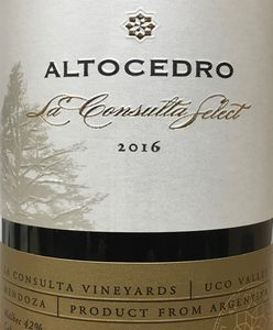 Altocedro La Consulta Select Red Blend 2016