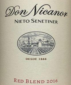 Don Nicanor Nieto Senetiner Red Blend 2016