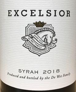 Excelsior Syrah 2018