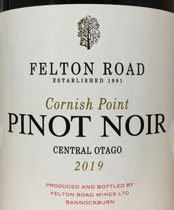Felton Road Cornish Point Pinot Noir 2019