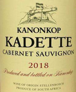 Kanonkop Kadette Cabernet Sauvignon 2018