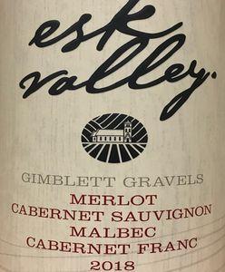 Esk Valley merlot Cab Malbec Cab Fra 2018