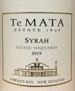 Te Mata Syrah 2019