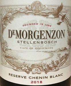 De Morgenzon Reserve Chenin Blanc 2018
