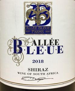 Allee Bleue Shiraz 2018