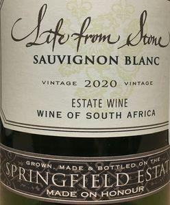 Springfield Life From Stone Sauvignon Blanc 2020