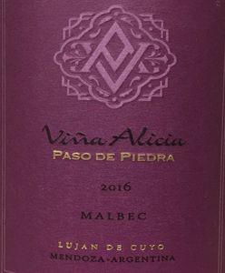 Vina Alicia Paso de Piedra Malbec 2016